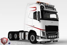 volvo 500 truck 3d volvo fh 500 cloburn edition model akirixdesign3dstudio
