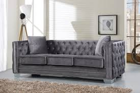 Cheap Tufted Sofa by Furniture Breathtaking Grey Velvet Sofa For Charming Home