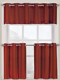 Cafe Kitchen Curtains Montego Slide And Style Grommet Curtains Paprika S