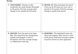 dividing integers practice word problems mr m u0027s library