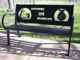 memorial benches custom made memorial bench by hooper hill custom metal designs