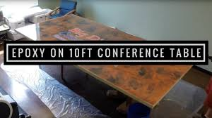 10 Foot Conference Table Metallic Epoxy Coating On 10 Ft Conference Table Youtube