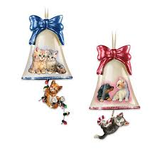 Glass Bell Christmas Ornaments - 686 best cat christmas ornaments images on pinterest christmas