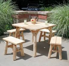 Tall Patio Chairs by Simple Cute Rustic Log Patio Furniture Of Tall Square Coffee Table