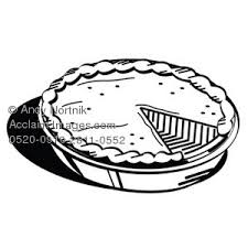 thanksgiving pie clip in black and white happy easter