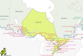 Trans Canada Highway Map by Hiking Map Ontario Gif