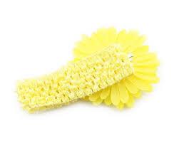 yellow headband children accessories baby girl beautiful lovely yellow