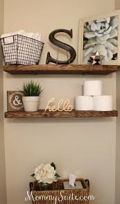 best ideas about bathroom wall decor pinterest diy diy faux floating shelves