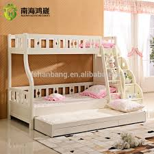 Pull Out Bunk Bed 3 Level Kids Wooden Mdf Pull Out Bunk Bed Furniture With Drawer