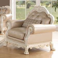 sofa dresden dresden pu antique white sofa with 5 pillows