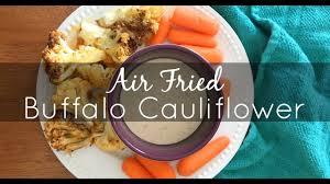 air fryer buffalo cauliflower youtube