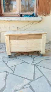 How To Make A Wooden Toy Box Bench by Pallet Toy Chest U2013 Seat Or Bench