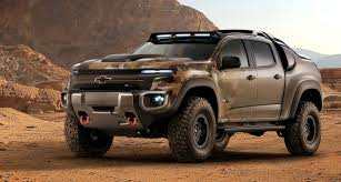 chevy baja truck street legal the u s army s chevy colorado zh2 looks ready for world war iv