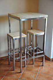 stehtisch küche bartisch stehtisch barhocker edelstahl 201 barstuhl barmöbel