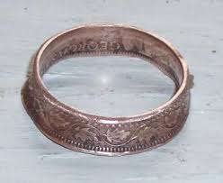 make metal rings images Rings made out of coins diy how to make a coin ring crafts jpg
