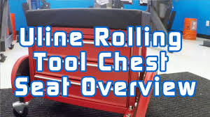 uline rolling tool cabinet uline rolling tool chest seat overview youtube