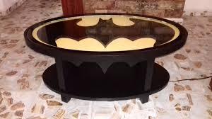 mesa de centro de logo de batman con luz 5 500 00 en mercado libre