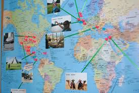 Push Pin Map Download Pin Map Travel Major Tourist Attractions Maps