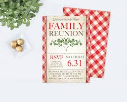 Invitation Card For Reunion Party Printable Family Reunion Invitation Editable Pdf Template