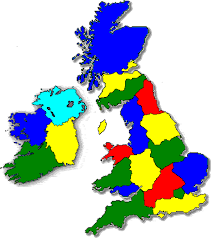 map uk ireland scotland bed and breakfast b b hotel guest house accommodation directory