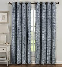 Amazon Window Curtains by Amazon Com Window Elements Greek Key Cotton Blend Extra Wide
