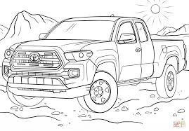 toyota tacoma coloring page free printable coloring pages