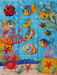 sea life vietri italy backsplash italian tile mural store sea life vietri italy backsplash mural tile