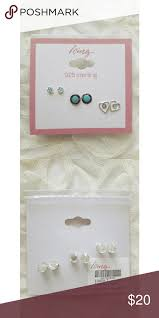 sterling silver earrings sensitive ears icing sterling silver earrings multipack nwt sensitive ears