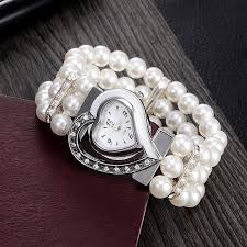pearl bracelet watches images 2017 new brand women pearl bracelet watch unique design jpg