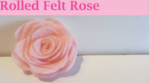 how to make a pink rolled felt flower craft tutorial