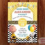 snoopy birthday party invitations movie invitation charlie brown