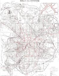 Moscow Map Moscow Tramway Maps