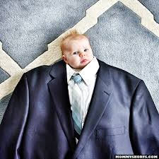 Suit Meme - baby suiting a photo meme where babies are dressed in oversized suits