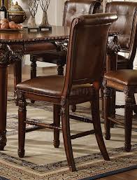 counter height dining room sets winfred counter height dining table in cherry by acme