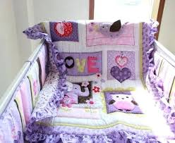 Purple Crib Bedding Set Purple Baby Bedding Set Crib And Gray Product Image Carum