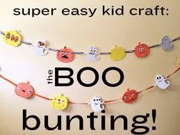 easy halloween kid craft the boo bunting making it with stephany
