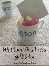 wedding thank you gifts wedding thank you gift idea for 5 starbucks gift card