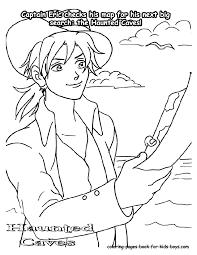 captain eric cartoon coloring sheet cartoons free kids coloring