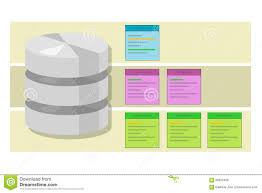 data table query database index symbol vector illustration concept