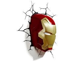 catch com au 3d marvel iron man mask wall light red