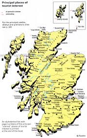 map of scotland and map of scotland places of tourist interest planetware