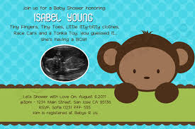 theme invitations monkey themed baby shower invitations marialonghi