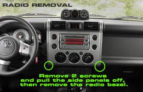 2007 toyota fj cruiser headunit stereo audio radio wiring install