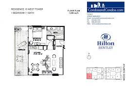 Plan 888 15 by Hilton Bentley Bentley Beach Condos For Sale Miami Beach