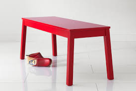 ikea bench stretch your seating sigurd bench red or white dining rooms
