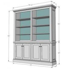How To Build In Bookshelves - built in bookshelf nice dimensions and doors how to raise up on
