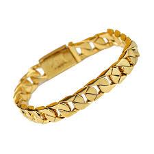 mens gold hand bracelet images China hip hop mens hand 18k gold cuban link bracelet mjcb010 jpg