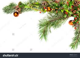 garland ornaments pine branches pine stock photo 78986644