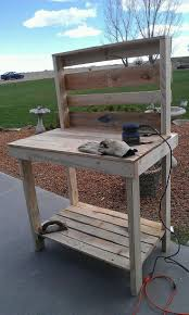 Wooden Potting Benches Ideas Rustic Potting Bench Potting Bench With Sink Outdoor