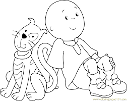76 free caillou coloring picture caillou print